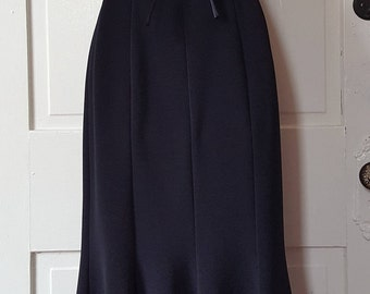 TIE ME UP // Vintage Lbd Criss Cross Open Low Back Mermaid Maxi Hourglass Goth Sexy Dress Sretch Size 4