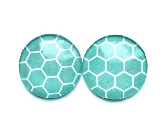 Glass Magnets - Turquoise magnets - pretty magnets - fridge magnets - office magnet - turquoise  decor - magnet boards - office accessories