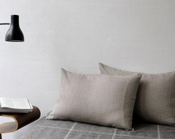 Minimalist pillow covers set of two - natural linen cushion cases, linen bedding, linen pillow shams, euro shams, linen bed pillows 0087