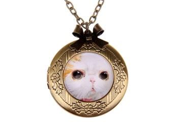 Cat Necklace, Cat locket, 2020m