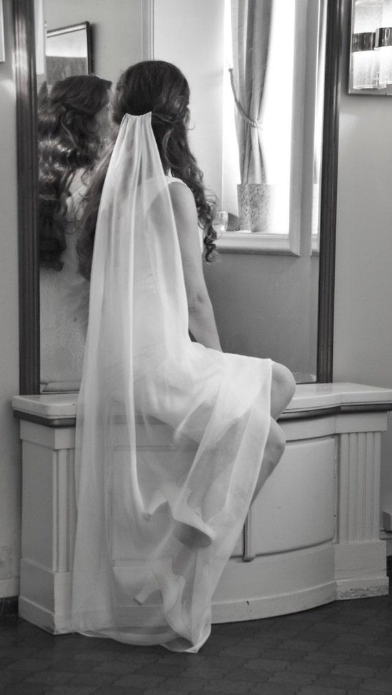 Bridal Veil - Soft Silk Veil - Brudeslør -