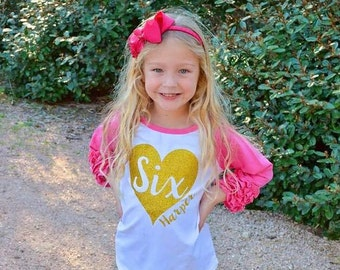 Birthday Gold Glitter Shirt - Girls Birthday Baseball Sleeve Raglan - First Birthday Shirt - Birthday Shirt - HTV applied not embroidered