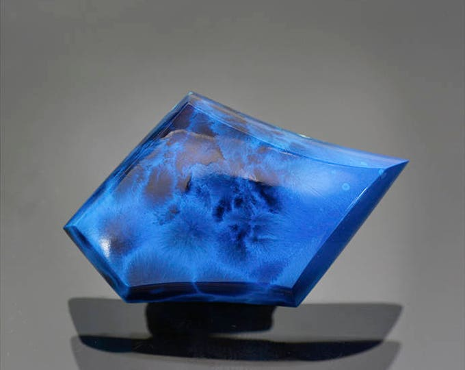 Fantastic Shattuckite and Bisbeeite Cabochon from the Congo 50.64 cts.
