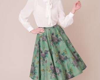 Liberty print vintage style skirt