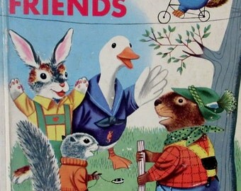 Vintage Little Golden Book  1953 Rabbit and His Friends  Richard Scarry  First A Edition  **Epsteam