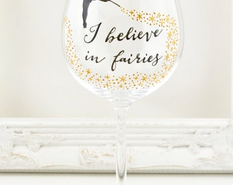 I Believe in Fairies Crystal Goblet