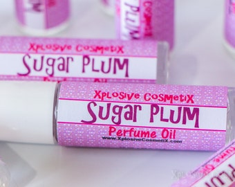 CLEARANCE** Sugar Plum Perfume Oil - Roll On Perfume, Fragrance Oil, Womens Perfume, Womens Fragrance, Body Fragrance, Christmas Fragrance