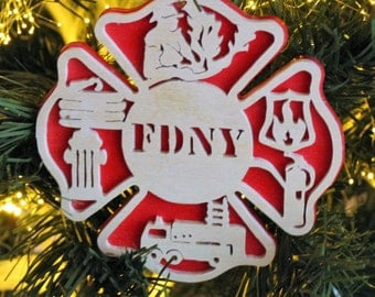 FireFighter Ornament - Firefighter Gifts - Firefighter Ornaments - Firefighter Gift - Fire House Gifts - Fireman Ornament - Personalzed Free