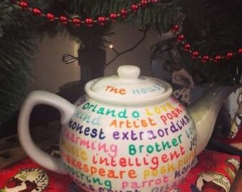 Personalised Handpainted Teapot