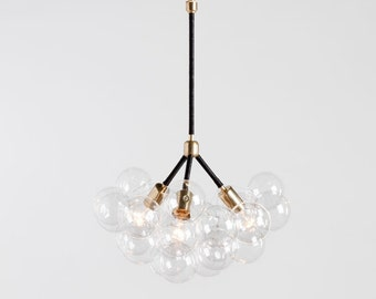 "The Three Branch Bubble Chandelier (20"" diameter)"