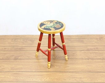 1930s Painted Bear Stool