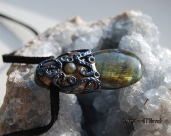 Special offer. Labradorite pendant Fantasy Enchanted Fairy Pixie Elven Jewelry Magic Mystic Spiritual
