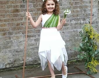 Wedding Flower Girl Dress | Snowdrop | Daisy | Lily | Flower Fairy Dress | Girl's Flower Dress | Cicely Mary Barker Fairy | Pantone Greenery