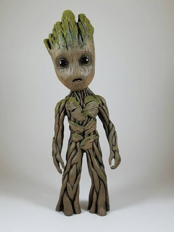 life size baby groot sculpture 9 5 tall. Black Bedroom Furniture Sets. Home Design Ideas