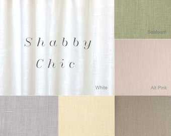 Shabby chic curtains etsy for Cantonniere shabby chic