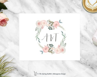 Wedding Monogram - Pre made Wedding Monogram Design - Customizable invitations - DIY Wedding Invitation Set