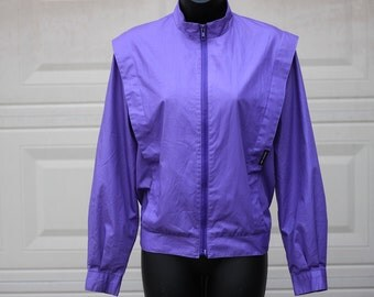 Members Only Jacket, Vintage 80s Jacket, Purple Members Only, 1980s Members Only Jacket, 80s Purple Jacket, 80s Jacket, 80s Bomber Jacket, M