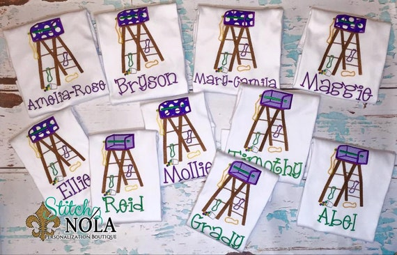Mardi Gras Ladder Shirt, Bodysuit or Gown