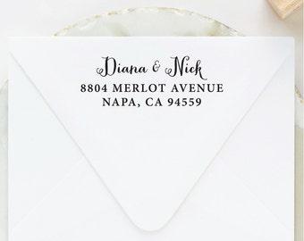 Calligraphy Address Stamp, Return Address Stamp, Self Inking Address Stamp, Wedding Address Stamp, Custom Address Stamp, Self Ink Address