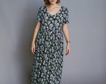 Floral Babydoll Maxi dress