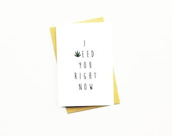 Weed valentines card  Etsy