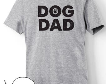 Fathers Day Shirt Gift Idea Dog Dad T-Shirt T Shirt Tee Doggy Daddy Papa Dog Lover Fur Puppy Baby Pawprint Paw Rescue Adopt Men Gift for Him
