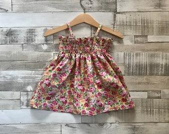 Floral Baby Dress | Summer Baby Dress | Floral Pattern Dress | Patterned Baby Girls Dress | Toddler Dress | Baby Sundress | Floral Sundress