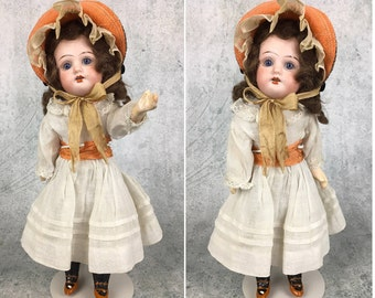 Antique German bisque head doll, miniature doll, girl doll, original clothing, mystery doll