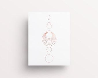 Circle Art, Rose Gold Prints, Line Art, Geometric Prints, Rose Gold Lines, Rose Gold Circles, Circle Print, Modern Art, Modern Line Prints