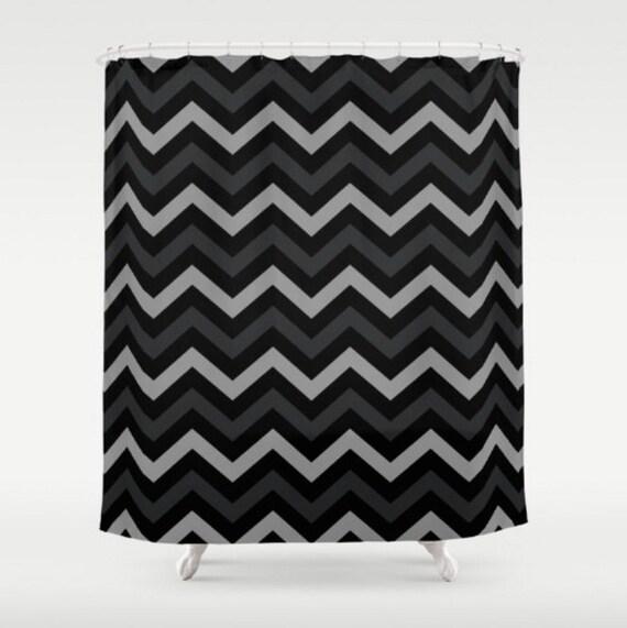 black shower curtain chevron shower curtain modern shower