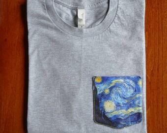 "Vincent Van Gogh ""Starry Night"" Pocket Tee"