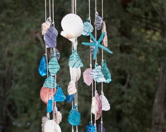 Sea glass wind chime / Sea glass mobile