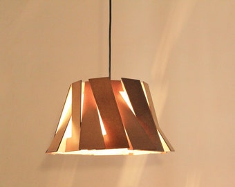 Wood Pendant Light - Modern Chandelier Lighting - Hanging Dining Lamp - Ceiling Light Fixture - Geometric - Minimal