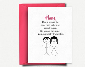 Mothers Day Gift, Mothers Day Card Funny, Mothers Day from Daughter, Handmade Card, Gift for Mom, Mom Birthday Card, Mom Card, Mom Gift