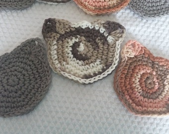 Meow it's Time for Tea Crochet Coasters