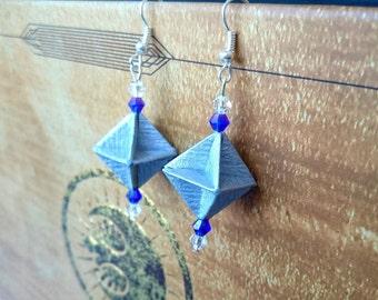 Modular origami earrings ** Handmade earrings** earrings for a gift