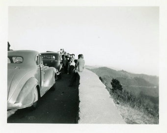 "Vintage Photo ""Road Trip Pit Stop"" Snapshot Antique Photo Old Black & White Photograph Found Paper Ephemera Vernacular - 142"