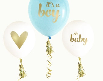 It's a Boy, Gender Reveal Party, Baby Shower Balloons, Oh Baby, Balloons, Gender Reveal, Blue Balloons, New Baby Balloons, Baby Boy Shower
