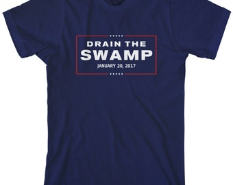 Drain The Swamp Donald Trump Presidential Inauguration Men's Short Sleeve or Long Sleeve T-Shirt - TA_00390