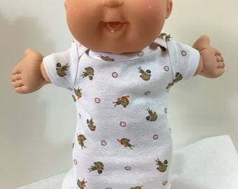"""Cabbage Patch BABY 14 inch BOY or Smaller 14 inch Kids, Cute """"MONKEYs Playing BASEBALL"""" Nightshirt, 14 inch Cabbage Patch Baby,Sweet Dreams!"""