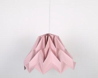 Fuji Lamp Pink Piggy // origami lampshade
