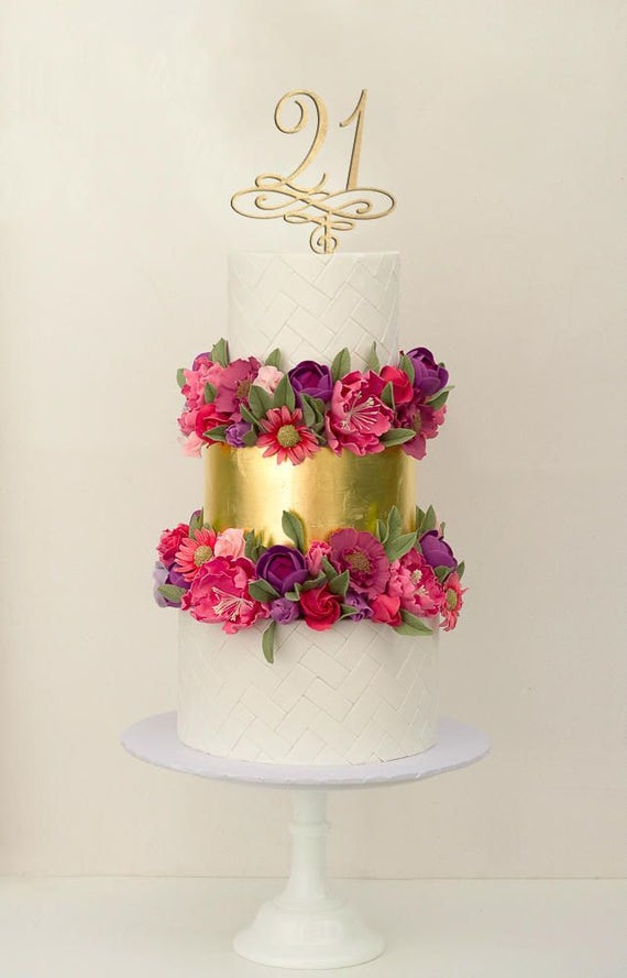 21 Birthday Cake Topper, Birthday Cake Topper, 21, Happy Birthday Cake Topper, Birthday Cake, Gold Cake Topper, Rose Gold Cake Topper