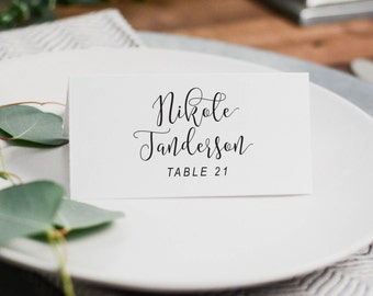 Printable Wedding Place Cards, Wedding Place Settings, Place Cards Wedding, Printed Wedding Table Cards, Wedding Escort Card, Wedding Decor