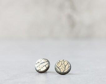 Gray Stud Earrings - Everyday Small Stud Earrings - Casual Dainty Earrings - Gray Posts