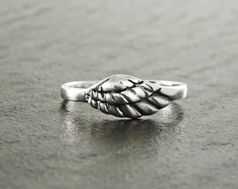 Angel Wing Ring, Angels Love, Wing Ring, Sterling Silver Angel Wing Ring, Angel Ring, Angel Jewelry, Feather Jewelry, Promise Ring, Gift