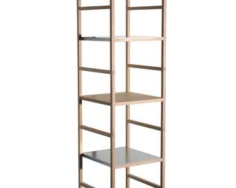Solid wood shelf rack