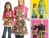 APRON Sewing Pattern - Mother Daughter Full & Half Style Aprons 5720