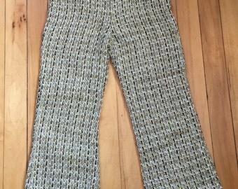 Vintage 1970s Girls Knit Bell Bottom Pants! Size 5