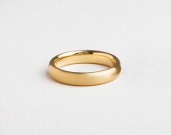 mens wide gold ring 14k 18k yellow gold wedding band mens wedding ring men simple
