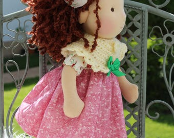 "Waldorf doll, 14"" tall doll steiner doll, organic doll,fabric doll, cloth doll, handmade"
